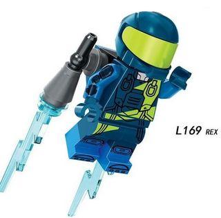 Rex Space Lego City Figures Compatible