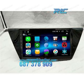 Rádio Navegador Android 6,0 GPS DVD 10.2 para VW