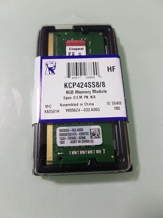 Memoria RAM 8GB DDR4 Kingston nueva sin abrir