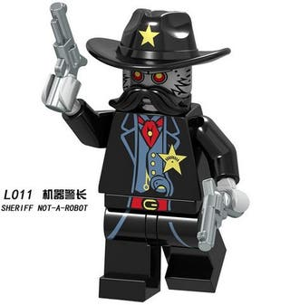 Sherrif Lego City Figures Compatible