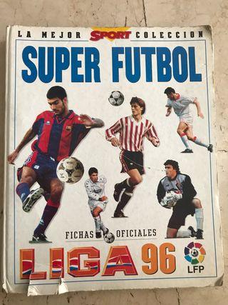 Álbum cromos súper fútbol liga 96