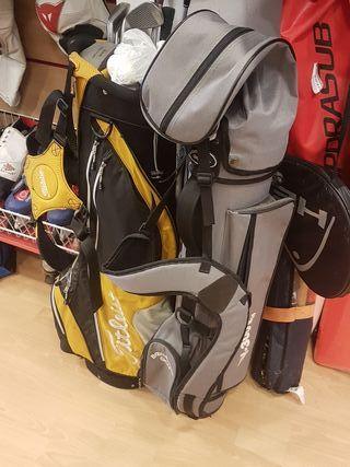 maleta completa con palos de golf, muy buen estado