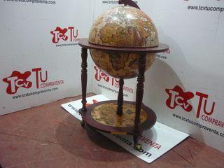 Botellero madera bola del mundo