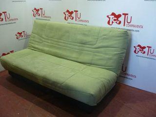 Sofa cama clic clac tela verde 185 cm