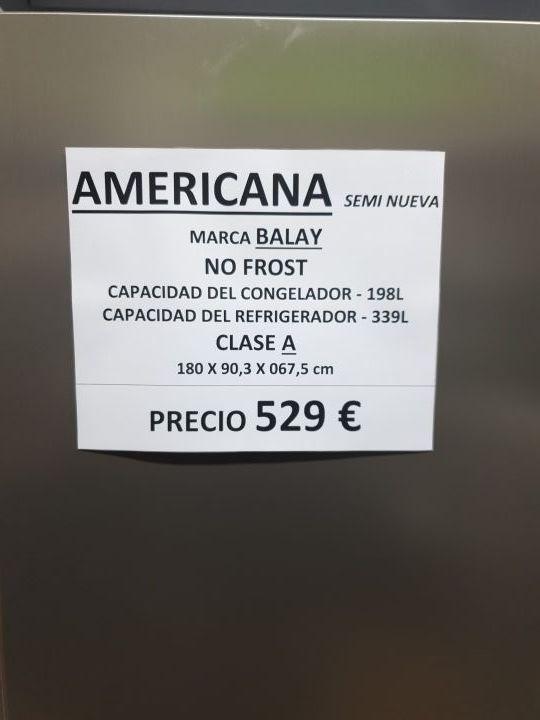 nevera americana no frost plateada antihuella