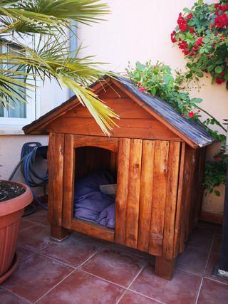 Casa perro grande madera