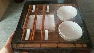 Set para 4 personas comida japonesa.