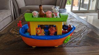 Barco juguete bebé animales