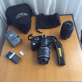 Pack cámara réflex Nikon D3100