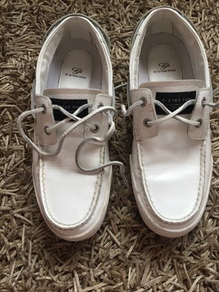 Zapatos G-Star cuero blanco. Talla 41-42