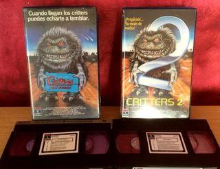 Critters 1 & 2 (primeras ediciones) VHS