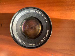 Objetivo Canon Lens FL 50mm