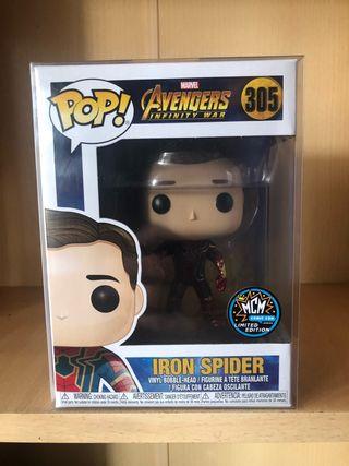 Iron spider unmasked Funko Pop MCM