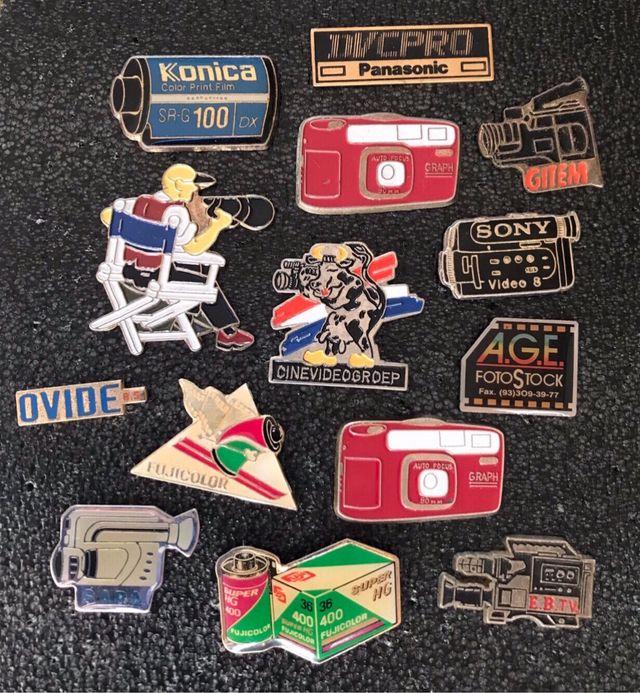 Pins imperdible y chapa TV y Fotografia