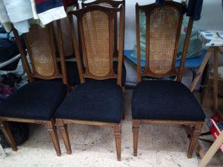 6 sillas rústicas