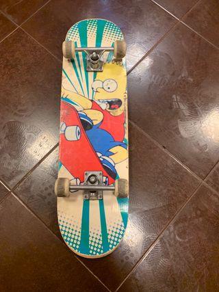 Patinete de los Simpson