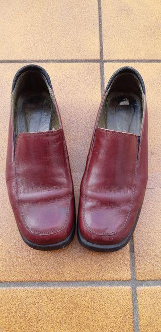 zapatos de piel granate-n-38