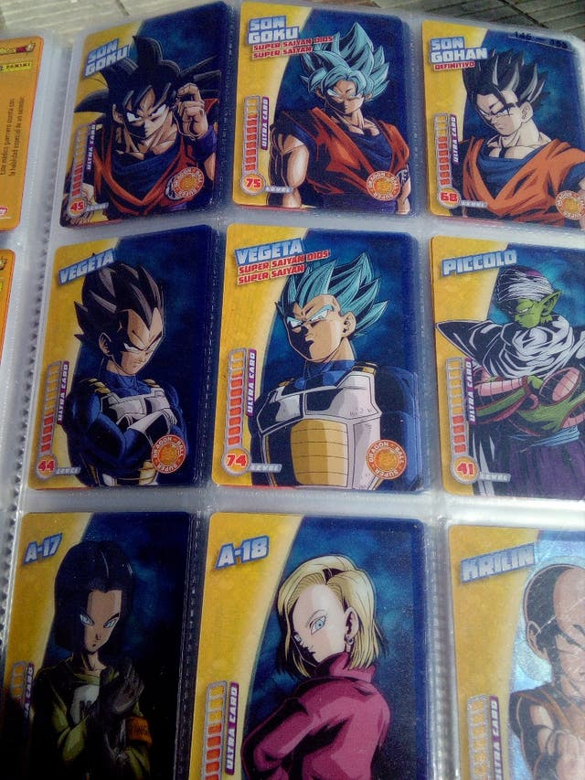 Cromos sueltos Dragón Ball Super Panini cartas