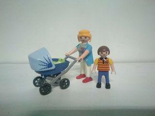 Playmobil mamá, niño y bebe