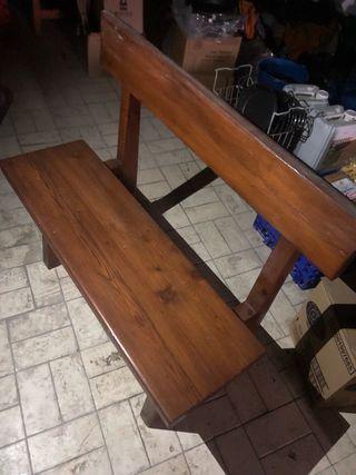 mesas i bancos madera taburetes