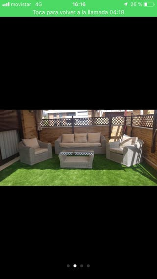 Conjunto completo jardin o terraza