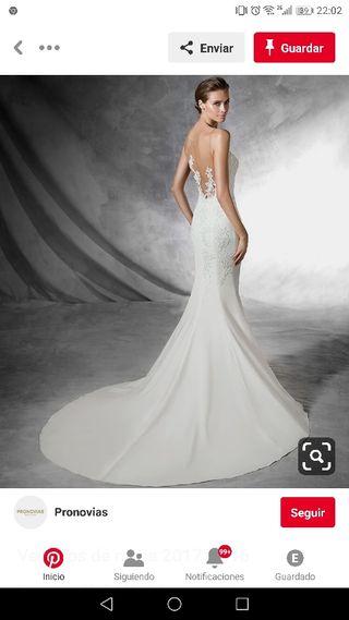 48a20b555c Vestido de novia talla 36 de segunda mano en Sevilla en WALLAPOP