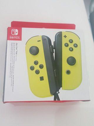 Mandos para la Nintendo switch amarillos