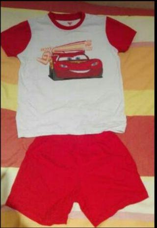 pijama Niño rayo mc queen talla 8-9
