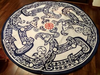 alfombra china dibujo dragon