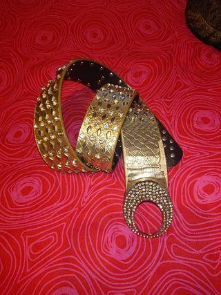 Cinturón Dorado pedrería