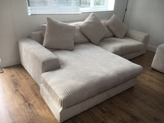 White Sofa Suite, Swivel Chair, Lounge Seat
