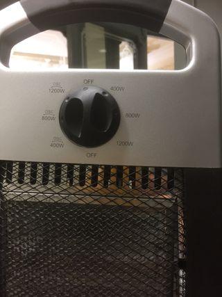 Radiador calentador, halogeno, 3 niveles