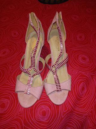 Zapato Rosa Pedrería