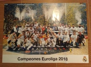 Poster R.Madrid baloncesto. Euroliga 2018