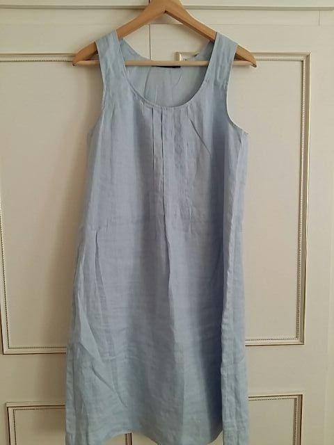Linen dress light blue