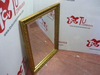 Espejo cristal marco dorado tallado 65x85 cm