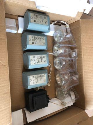 Lote 5 transformadores y bombillas Philips