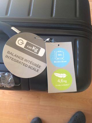 Maleta de viaje con peso incorporado
