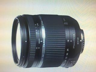 Objetivo Tamron camara Nikon