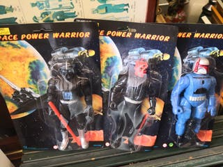 3 blister coleccionable space power warrior
