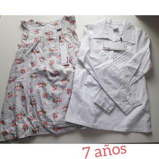 7dd523a65 Blusa blanca niña de segunda mano en Madrid en WALLAPOP