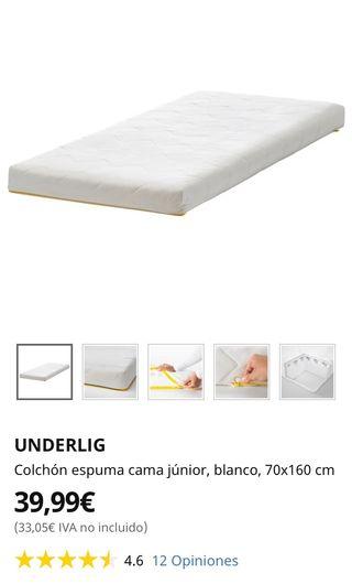 Vendo estructura de cama con COLCHON INCLUIDO
