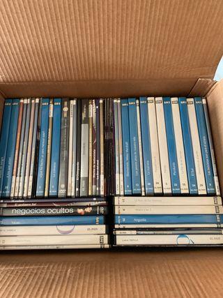 Caja con 70 películas dvd