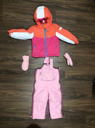 Chaqueta y pantalón de nieve talla 3