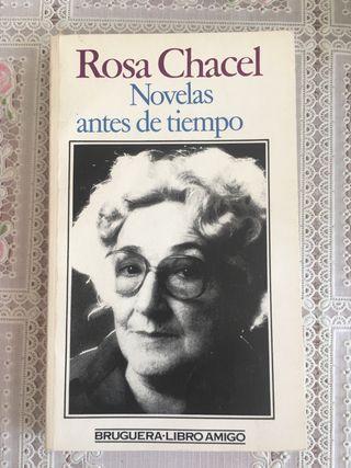 Rosa Chacel. Novelas antes de tiempo.