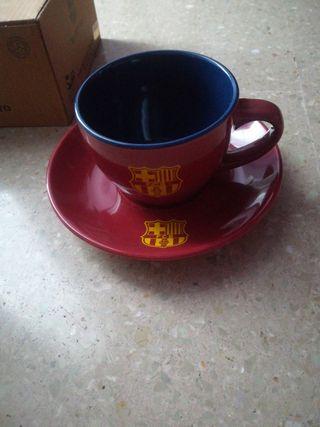 taza y plato Barcelona