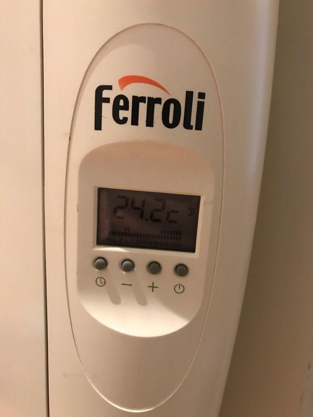 Dos radiadores eléctricos Ferroli bajo consumo