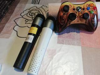 XBOX 360 con 2 mando 2 micrófonos i 9 juegos