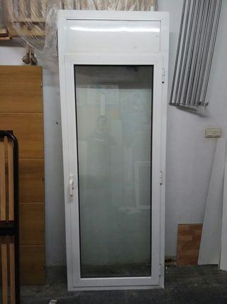 Puerta practicable aluminio