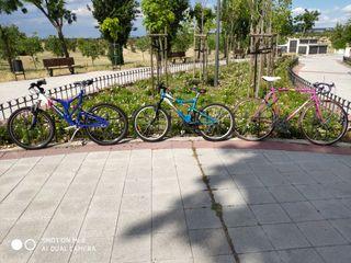lote de 3 bicicletas